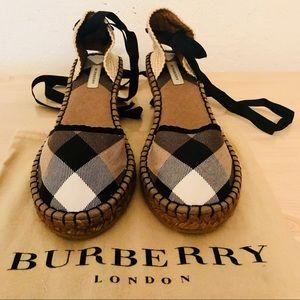 BURBERRY LONDON NWB ESPADRILLES/SIGNATURE PRINT 10